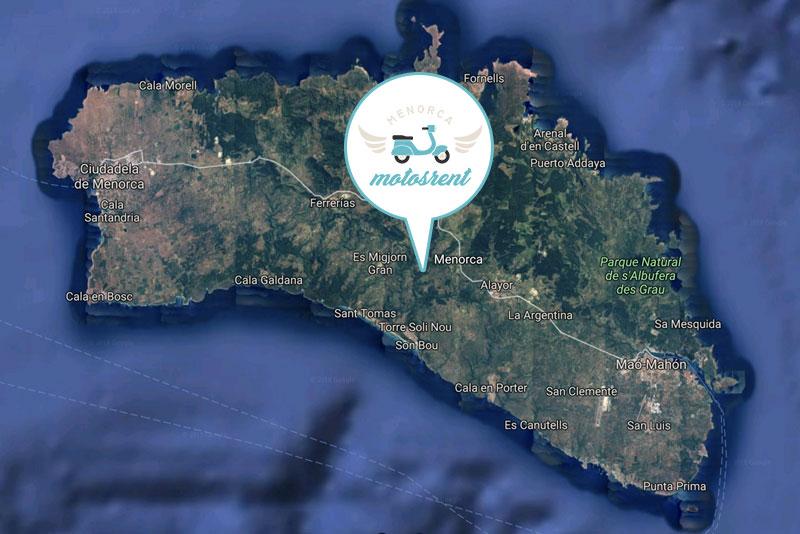 Alquiler de Motos en Menorca: Áreas